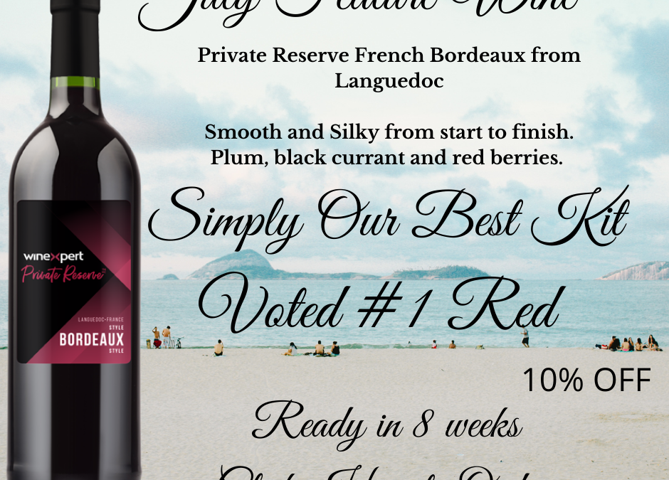 Premium Feature Wine for July
